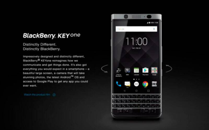 BlackBerry KeyOne is the name of the BlackBerry Mercury smartphone, according to an official page that went live ahead of launch.
