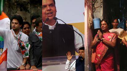 BMC elections 2017, BMC polls, BMC elections, BMC, Brihanmumbai Municipal Corporation, Devendra Fadnavis, BMC polls campaign, BMC polls rallies, Raj Thackeray, Jyoriraditya scindia, Manish tewari, BMC polls photos, BMC election campaign pictures, maharashtra, photo galley, BMC polls photo gallery