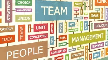 TEAM. Concept related words in tag cloud. Conceptual info-text graphic. Word collage.