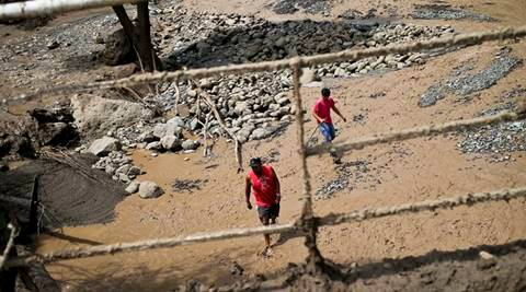 chile floods, chile, chile news, chile flood disaster, world news, indian express