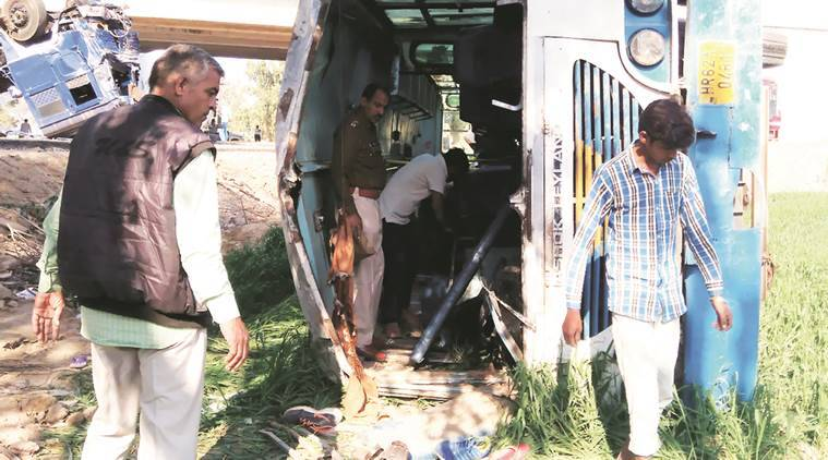 Chandigarh news, Punjab news, Punjab Gas tanker collides with bus, Punjab road accident news, Latest news
