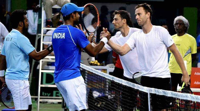 Image result for New Zealand hits back in the doubles, stays alive