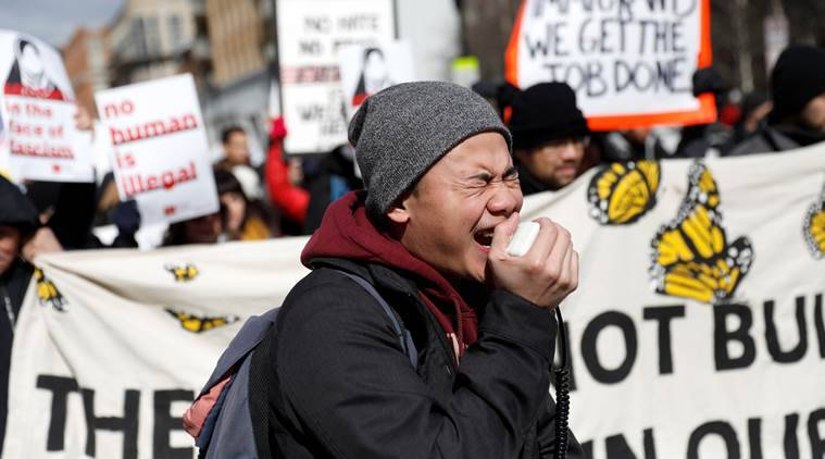 immigrants, US,  day without immigrants, day without immigrants protest, protest, world news, indian express news