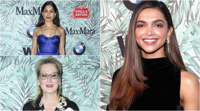 Deepika Padukone might not be attending Oscar 2017, but she was present at the pre-awards cocktail party