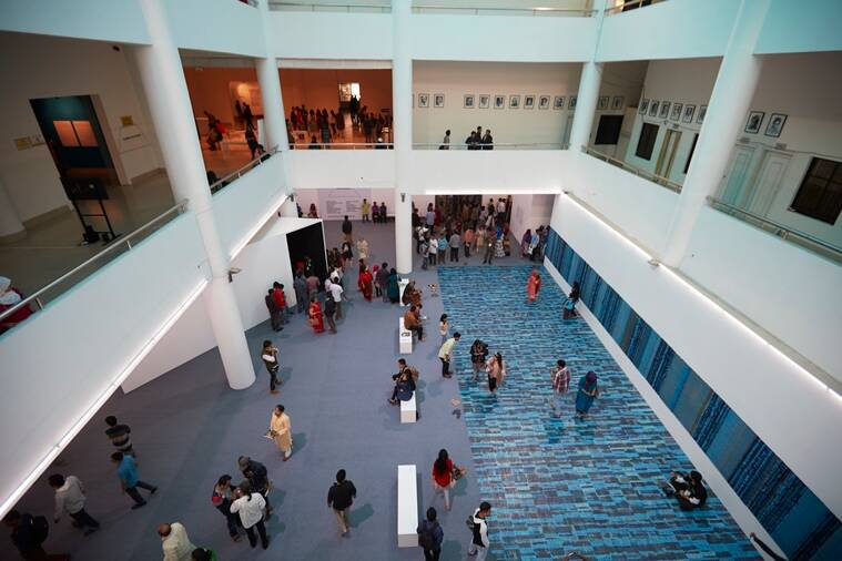 Visitors at the 2016 Dhaka Art Summit. (Source: Jenni Carter)