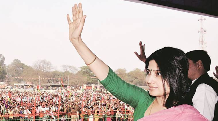 Dimple Yadav, Uttar Pradesh elections, UP polls, up elections, Samajwadi Party, Akhilesh Yadav, Modi, BJP, Rahul Gandhi, SP-congress, India news, Indian express