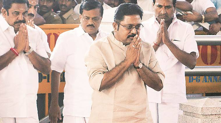 sasikala, sasikala nephew, aiadmk leader, dinakaran, aiadmk, sasikala relative, india news, indian express news, latest news