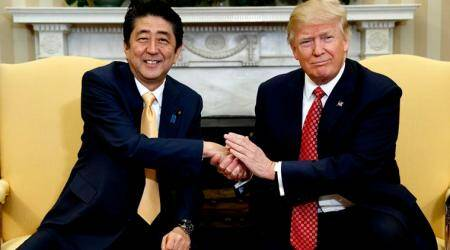 Donald Trump, Shinzo Abe agree world must step up response to North Korea: Kyodo News