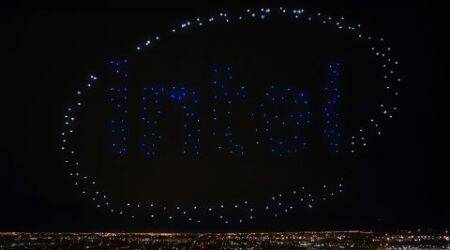 Super Bowl: Intel Shooting Star drones light up Lady Gaga's performance