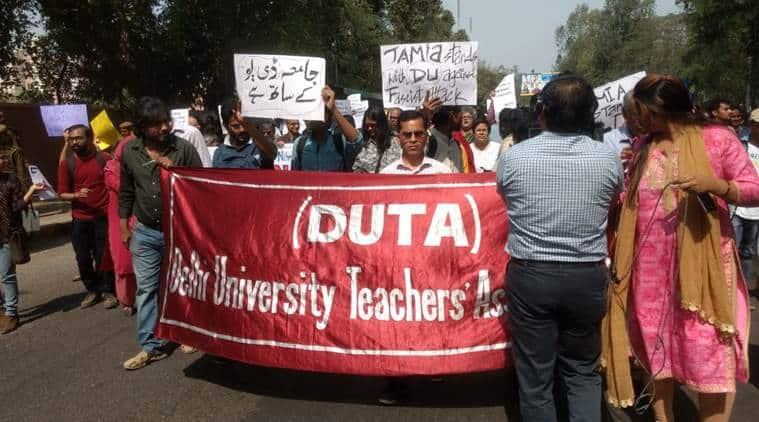 Delhi University: Outgoing students worry as teachers boycott evaluation