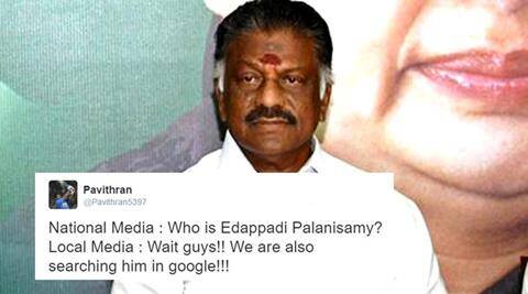 Edappadi Palanisamy, who is Edappadi Palanisamy, Edappadi Palanisamy trolls, Edappadi Palanisamy twitter answers, Edappadi Palanisamy Panneerselvam, Edappadi Palanisamy photo, Edappadi Palanisamy name, Edappadi Palanisamy caste, Edappadi Palanisamy south india, Edappadi Palanisamy Tamil Nadu, indian express, indian express news