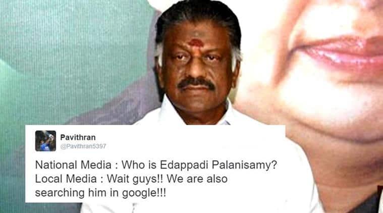 Edappadi Palanisamy, who is Edappadi Palanisamy, Edappadi Palanisamy trolls, Edappadi Palanisamy twitter answers, Edappadi Palanisamy Panneerselvam, Edappadi Palanisamy photo, Edappadi Palanisamy name, Edappadi Palanisamy caste, Edappadi Palanisamy south india, Edappadi Palanisamy Tamil Nadu, indian express, indian express news