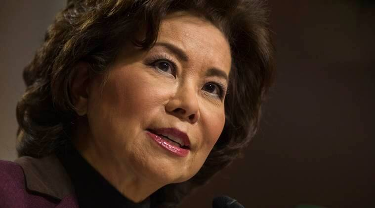 FILE- In this Wednesday, Jan. 11, 2017 file photo, transportation Secretary-designate Elaine Chao testifies on Capitol Hill in Washington, at her confirmation hearing before the Senate Commerce, Science, and Transportation Committee. The Cabinet nominee of U.S. President Donald Trump and one of his advisers gave paid speeches for an Iranian exile group that killed Americans before the 1979 Islamic Revolution, ran donation scams and saw its members set themselves on fire over the arrest of their leader. (AP Photo/Zach Gibson, File)