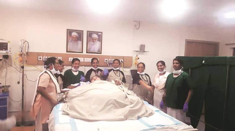 Eman Ahmed at Saifee Hospital.