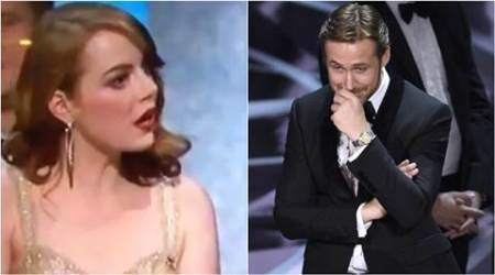 Ryan Gosling, Emma Stone's reaction after La La Land losing the Oscar is priceless. See pics