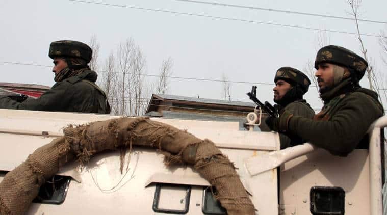 Jammu and kashmir, J&K encounter, encounter underway, bandipora district, Hajin, J&K Hajin, Terrorists, J&K news, encounter news, indian express news