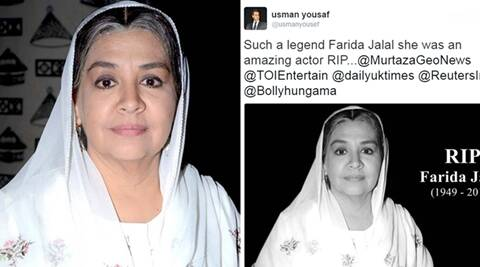 farida jalal, farida jalal death, fairda jalal death true story, farida death hoax, farida jalal death truth, indian express, indian express news, trending in india, trending and viral india