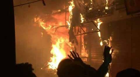 Odisha: Child's body found, locals torch police station