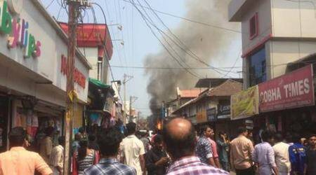 Kozhikode: Fire breaks out at SM Street market, 10 firetenders at the spot