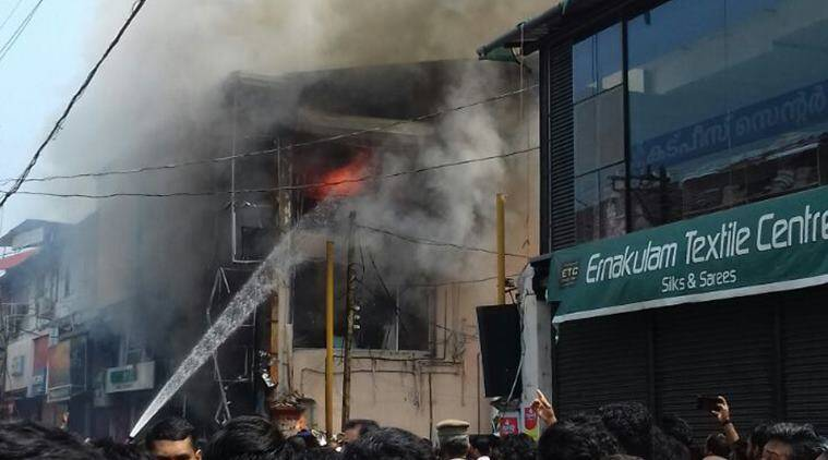 Major fire at textile shop at Kozhikode SM Street