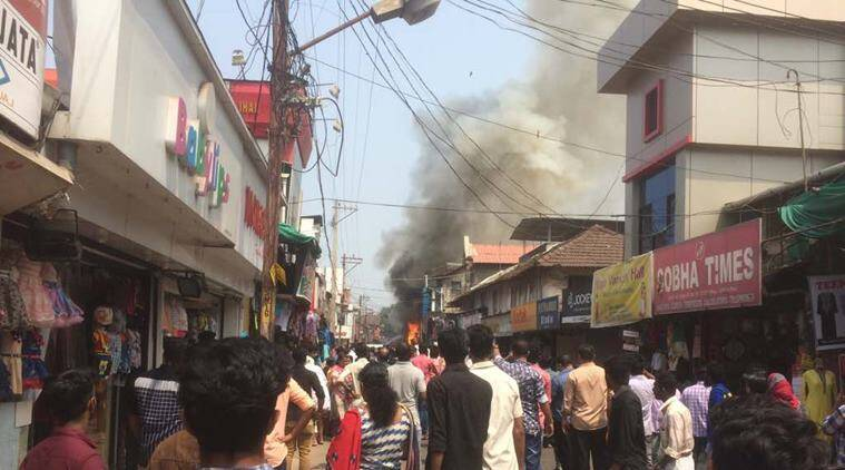 Kerala: Fire at SM Street in Kozhikode, at least 15 shops gutted