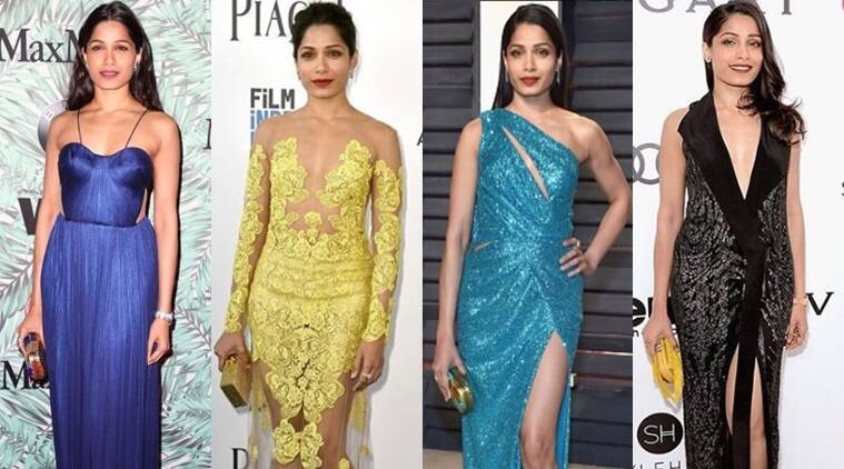Over the last couple of days, Freida Pinto has really impressed us with her sartorial choices. (Source: Instagram/Tanya Ghavri)