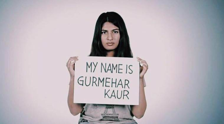 Ramjas protests, Ramjas violence, Gurmehar Kaur, Gurmehar, Martyrs daughter, delhi university protests, delhi news, india news, indian express news