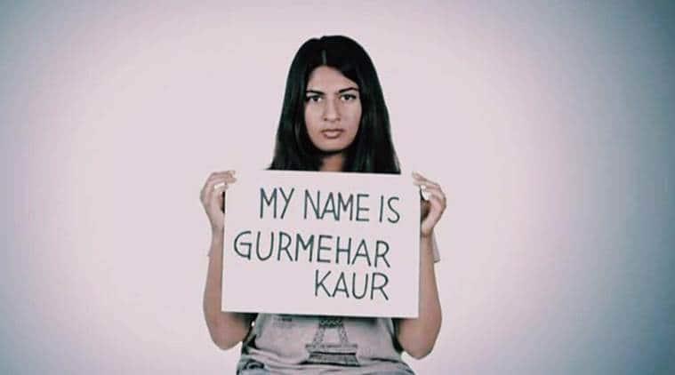 Gurmehar Kaur, Gurmehar Kaur student, kiren rijiju, virender sehwag, delhi university, Gurmehar kaur delhu university, gurmehar kaur protest, gurmehar kaur campaign, news, latest news, abvp news, abvp protest, india news