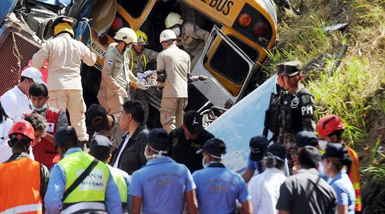 vietnam, vietnam bus crash, bus crash, bus, crash, vietnam's central highlands, central highlands, highlands, truck crash, accident, incident, world news, indian express news