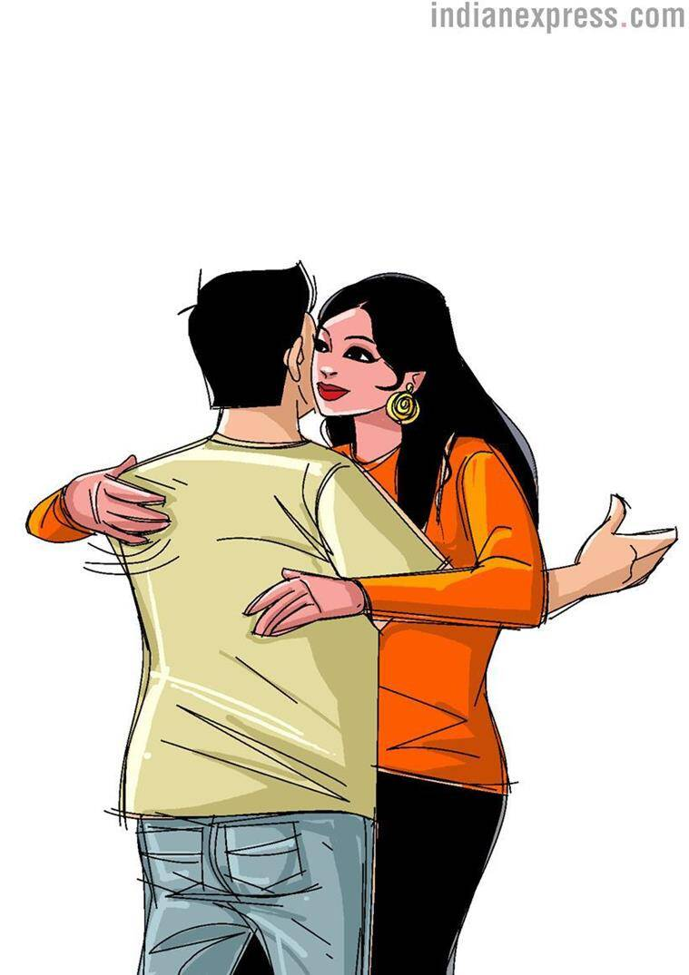 an person Hug day asian