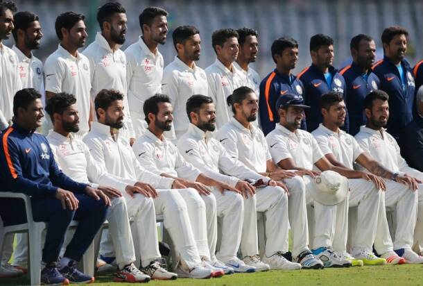 Virat Kohli, Kohli, R Ashwin, Ravindra Jadeja photos, India team, Team India , Team India photos, India beat Bangladesh, India vs Bangladesh Test 2017, Bangladesh tour India, Ashwin, Jadeja, Ind vs Ban, Ind vs Bam 2017, Cricket photo, Cricket news, Cricket