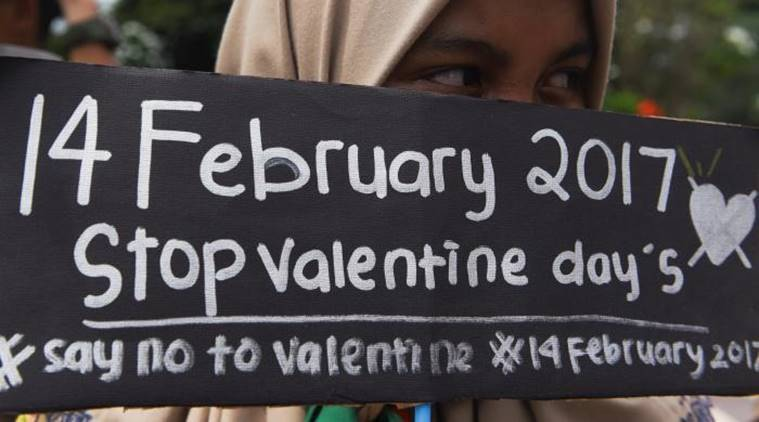 Indonesia valentine's day, indonesia valentine's day crackdown, indonesia condom raids, indonesia anti-valentine's day raids, indonesia news, world news, latest news, indian express