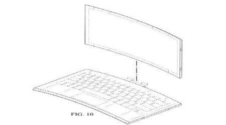 Intel, curved laptop design, Intel patent curved laptop, curved laptop design, Acer Predator 21X, Surface Pro 4, Surface Book, Intel patents, technology, technology news