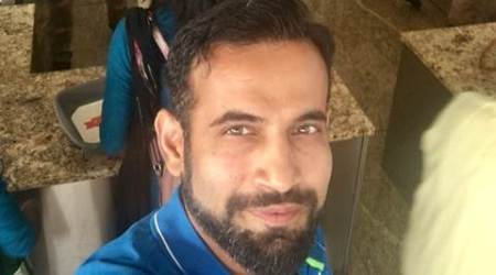 Irfan Pathan who was at the Mumbai airport took some time off to click a selfie at the security check. (Source: Twitter)