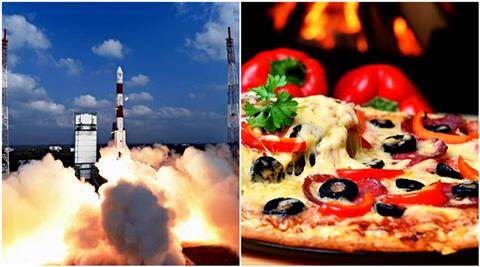 isro, pizza hut, isro employees free pizza, free pizza isro, pizza hut free pizza, pizza isro, isro 104 satellites, indian express, indian express news