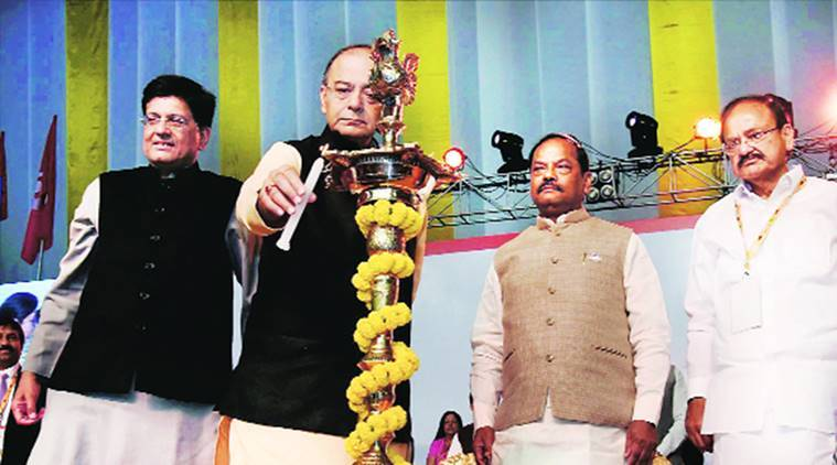 global investors' summit, jharkhand summit, jharkahnd ,raghubar das, arun jaitley, jharkahnd growth, jharkhand development, indian express news, india news, business news