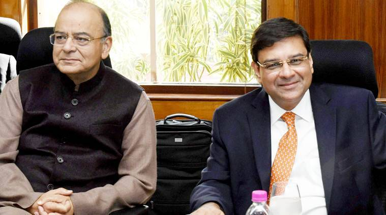 New Delhi: Finance Minister Arun Jaitley and RBI Governor Urjit Patel during the customary post- budget meeting in New Delhi on Saturday.PTI Photo by Atul Yadav(PTI2_11_2017_000034A)