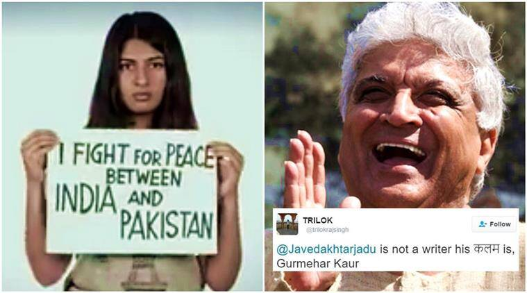 javed akhtar, javed akhtar tweets, javed akhtar kiren rijiju, javed akhtar gurmehar kaur, javed akhtar du tweet, javed akhtar pakistan tweets, javed akhtar twitter, indian express, indian express news