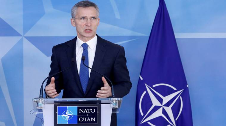 NATO, NATO meet, press conference, global coalition, NATO allies, world news, indian express news