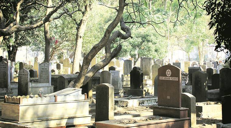 The Jewish Cemetery on Dr E Moses Road in Worli; Dr Elijah Moses (right).  Nirmal Harindran