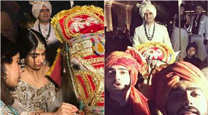 Sonam Kapoor, Arjun Kapoor, Jhanvi Kapoor turn true baraatis at brother's wedding. See inside pics