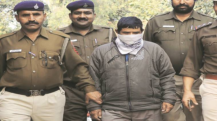 Murder accused Kiran Singh in police custody at Sector 26 Chandigarh on Monday, February 06 2017. Express photo by Jasbir Malhi