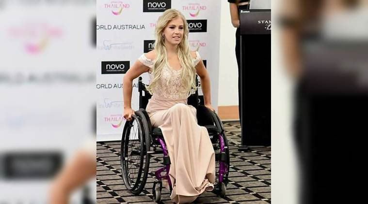 miss world, miss world australia, australia miss world final, miss world australia 2017, wheelchair bound contestant miss world australia, disable miss world australia, fashion news, world news, australia news, indian express
