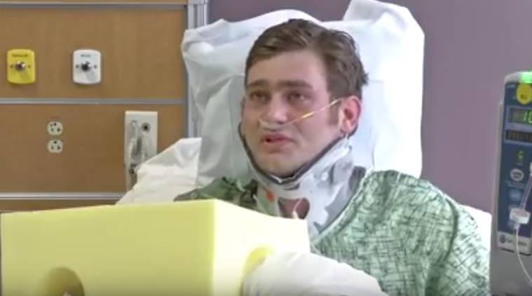 The 24-year old American Ian Grillot tried to take the gun away from the shooter at Kansas City bar where one Indian died in an alleged hate crime. (Scereengrab via Youtube)
