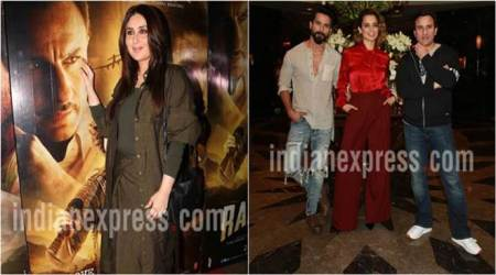 Rangoon: Kareena Kapoor at special screening, Kangana Ranaut, Shahid Kapoor and Saif Ali Khan pose for a photo shoot