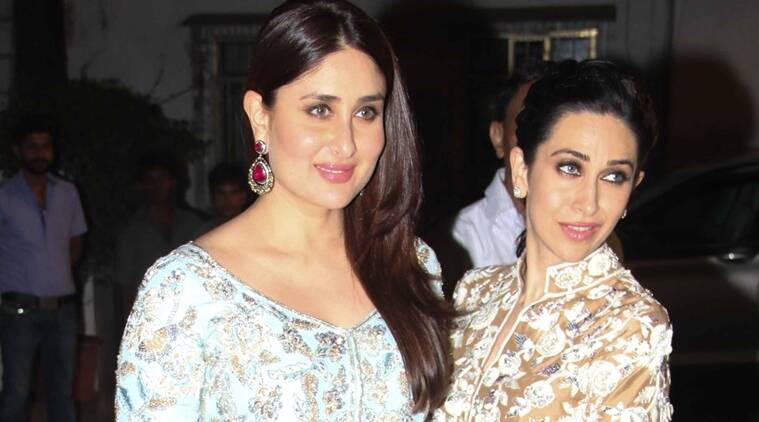 Kareena Kapoor Khan (L) and Karisma Kapoor look gorgeous in Manish Malhotra. (Source: Varinder Chawla)