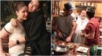 Ranbir Kapoor, Saif Ali Khan turn master chefs for Karisma and Kareena Kapoor. See pic