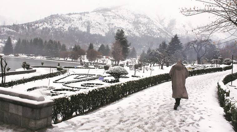 kashmir, kashmir snowfall, kashmir winter, valley snowfall, Met Department, Meteorology Department, chillai kalan, what is chillai kalan, indian express explained, kashmir news