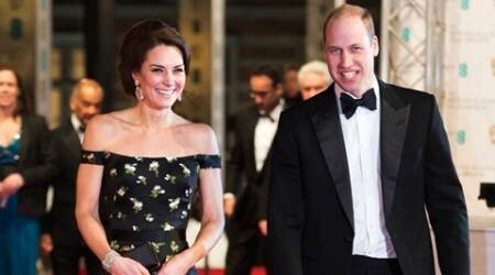 Britain's Prince William, Duke of Cambridge, right, and Britain's Kate, Duchess of Cambridge, arrive to attend the BAFTA British Academy Film Awards at the Royal Albert Hall in London, Sunday, Feb. 12, 2017. The British Academy of Film and Television Arts supports, develops and promotes the art forms of the moving image by identifying and rewarding excellence, inspiring practitioners and benefiting the public. (Daniel Leal-Olivas/ Pool via AP)
