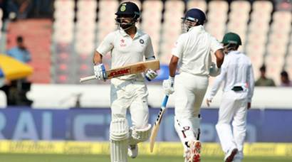 India vs Bangladesh: Virat Kohli, Murali Vijay ensure command after opening day